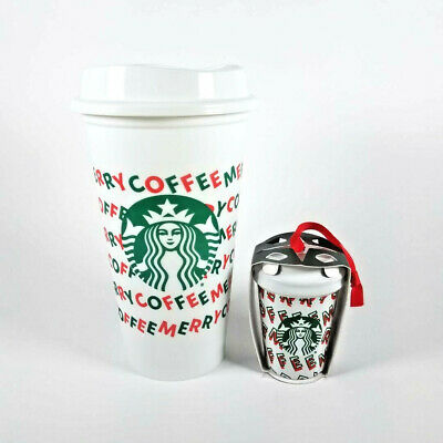 Starbucks Holiday 2019 Reusable Hot Cup Merry Coffee Christmas & Merry Ornament