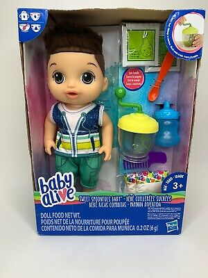 Baby Alive Sweet Spoonfuls Baby Doll Boy - Brown Straight Hair