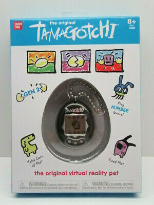 The Original Tamagotchi Virtual Reality Pet - Black - 2018 Gen 2 - Bandai - New