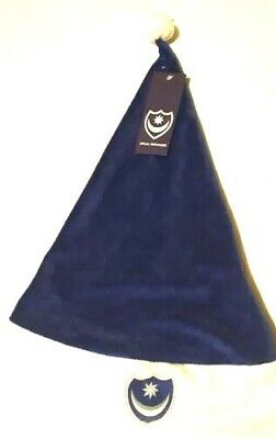 New Portsmouth Fc Christmas Santa Hat Blue / White Supersoft Adults Xmas 1 Pack