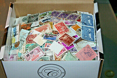 World Stamps Off Paper In Box - All Eras Mint And Used 4000+ Stamps