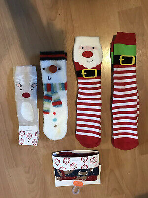 Assorted New John Lewis Boys Christmas Slipper Socks And Boxer Shorts Ages 4-8