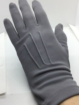 Pair Vintage Dent Fownes Grey Day Gloves 1960s Size 6.5 Nylon