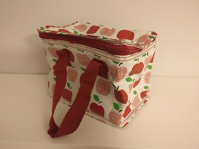 Apple patterned lunch bag (good condition)