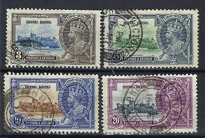 Hong Kong 1935 Silver Jubilee Set FINE USED. SEE SCANS. POST FREE TO THE UK.