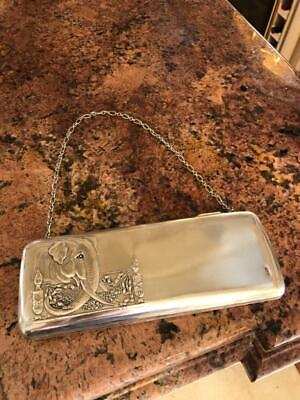 Antique 20thC Imperial Russian Solid Silver Large Purse