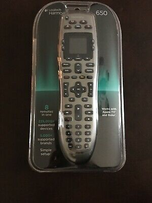 """Logitech Harmony 650 Universal Remote - 1.5"""" LCD Screen - Controls 8 Devices"""