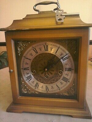 Westminster Chime Wooden Mantle Clock - 78 Franz Hermies -340-020 -West Germany