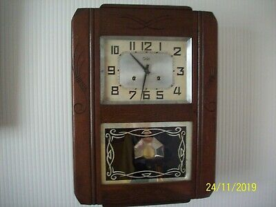 Antique French Art Deco wall clock