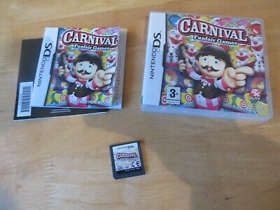 nintendo ds/ds lite/2ds/3ds game.carnival funfare games.complete