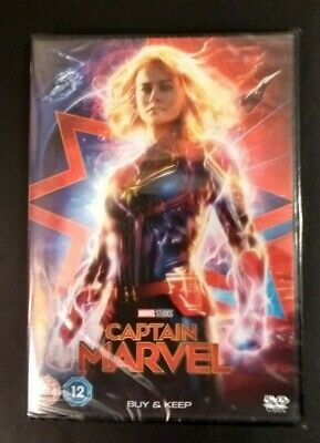 Captain Marvel Brand New & Still Sealed DVD 2019 Marvel Studios - UK Edition
