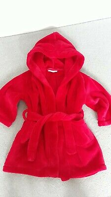 The Little White Company Red Baby Christmas dressing gown 18-24 months ex.cond.