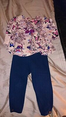 Ted Baker Girls Outfit Age 12-18  Months Gorgeous