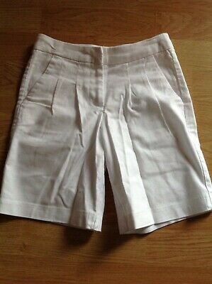 Next girls white cotton shorts age 5 years