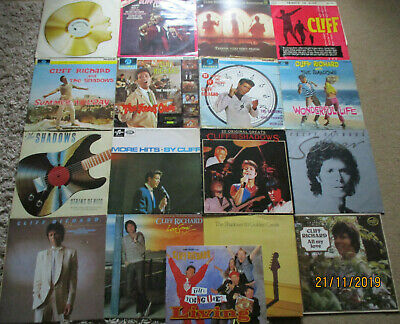 "CLIFF RICHARD / THE SHADOWS - JOBLOT - 16 x 12"" VINYL LPs ALL PICTURED LISTED"