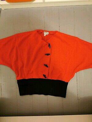 Womens vintage 80s style red batwing sweater small-medium