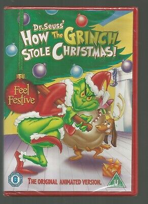 Dr Seuss HOW THE GRINCH STOLE CHRISTMAS sealed/new UK DVD original animated vsn