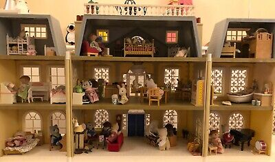 sylvanian families furnished grand hotel 8 families & over 12 sets of furniture