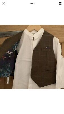 Monsoon Boys Shirt And Waistcoat Set - Age 2-3yrs BNWT