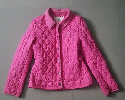 H&M Girls Pink Quilted Coat Jacket, 14yrs Years, Good Condition