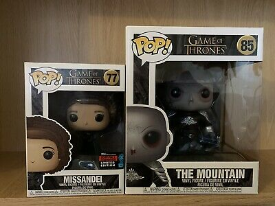 Game Of Thrones Funko Pop Bundle - The Mountain & Missandei NYCC 2019 Exclusive