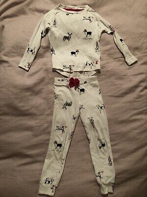 Joules Girls Christmas Dog Pyjamas Set. Age 5. Very Good Condition.