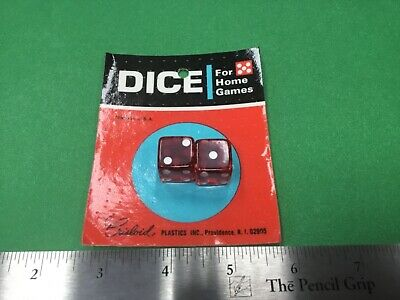 Vintage Pair Of Chrisloid Red Dice