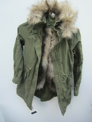 Gap parka girls 3 in 1 fishtail with removabale fur lining and fur hood