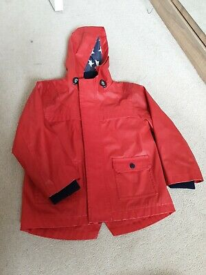 Marks and Spencer Red Raincoat with hood 4-5 Years Boy or girl unisex