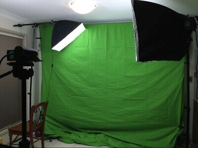 Continuous lighting Kit - Photo/Video, Light Boxes, Green Screen - Portable