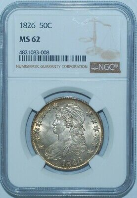1826 NGC MS62 O-108a R.1 Capped Bust Half Dollar