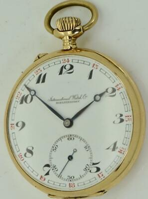 "Chinese Qing Dynasty 14k gold & enamel ""International Watch Co"" pocket watch.金怀表"