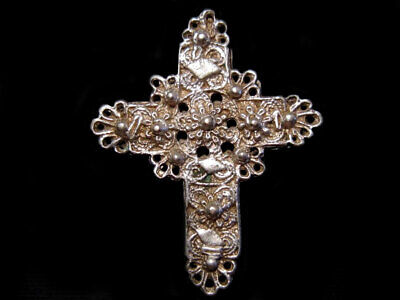 Outstanding Post Byzantine, Medieval Reliquary Orthodox Silver Cross+++
