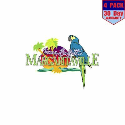 Margaritaville Jimmy Buffetts 4 Stickers 4x4 Inch Sticker Decal