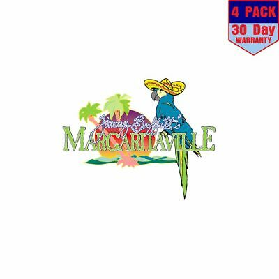 Margaritaville Jimmy Buffetts Sombrero 4 Stickers 4x4 Inch Sticker Decal