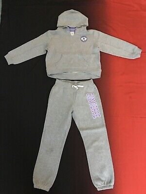 Converse, Girls Grey Tracksuit Set