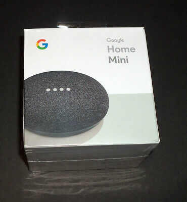 Google Home Mini Personal Smart Assistant Charcoal Brand New Sealed GA00216-US