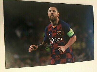 LIONEL MESSI BARCELONA autographed 6X4 photo signed 7