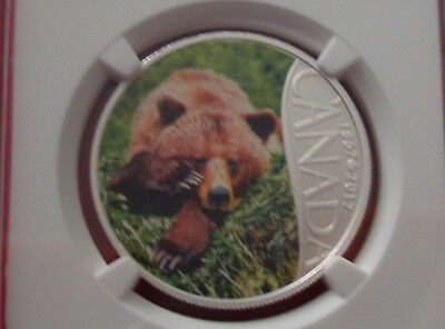 2017 CANADA $10 - Grizzly Bear - Fine Silver Coin - NGC PF 70 ULTRA CAMEO FR