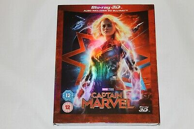 Captain Marvel Blu-ray 3D & 2D (2-Disc Set, Sleeve, 2019) - Brand New and Sealed