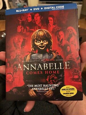 Annabelle Comes Home (Blu-ray + DVD + Slipcover) No Digital Copy Never Watched