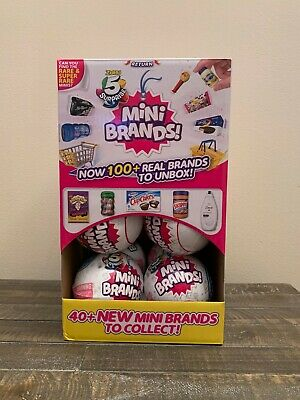 5 SURPRISE! MINI BRANDS *FULL CASE OF 12 BALLS* BY ZURU! NEW! Display Included
