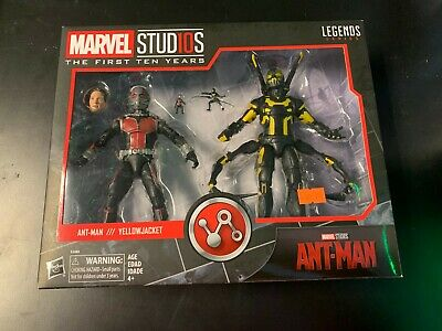 Hasbro Marvel Legends ANT-MAN & YELLOWJACKET in package Marvel Studios Ten Years