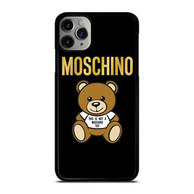 NEW MOSCHINO TEDDY BEAR CUTE Print On Hard Cover Phone Case For iPhone X
