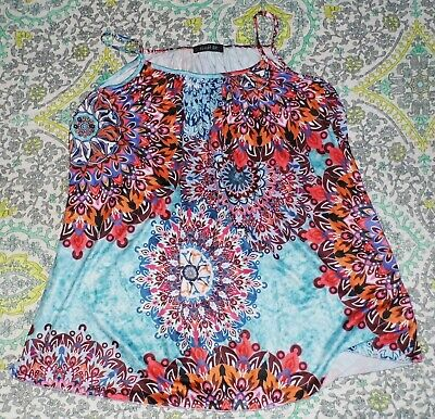 NEW Womens Plus 3XL Boho Print Mandala Tank Top Zulily F'ee Et Rit