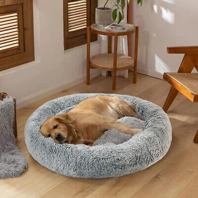S/M/L Washable Dog Cat Pet Calming Bed Plush Sleeping Mat with Removable Cushion