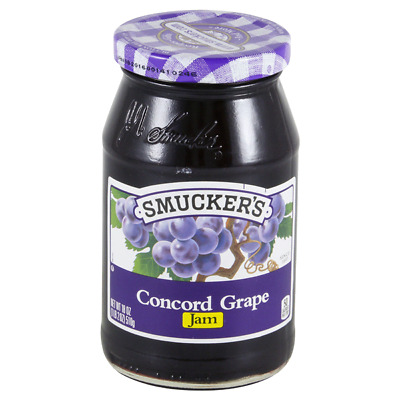 Lot 6 Jars Smucker's Grape Jam, 18 oz Each