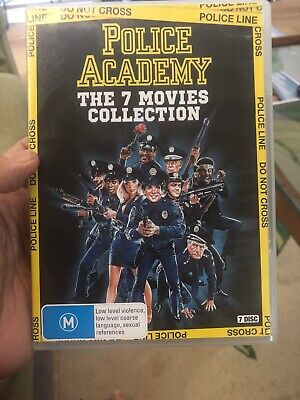 POLICE ACADEMY THE SEVEN MOVIES complete DVD 7 Disc box set