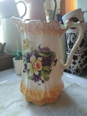 very decorative antique victorian large jug not marked on base