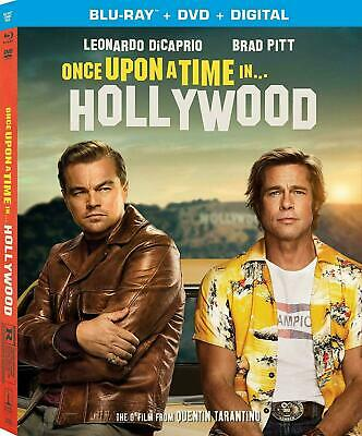 Once Upon a Time in Hollywood (Blu-ray + DVD + slipcover, No Digital) Like New